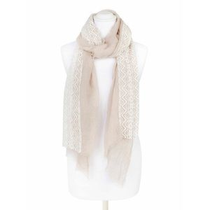 Pia Rossini Ayla Scarf in Light Taupe